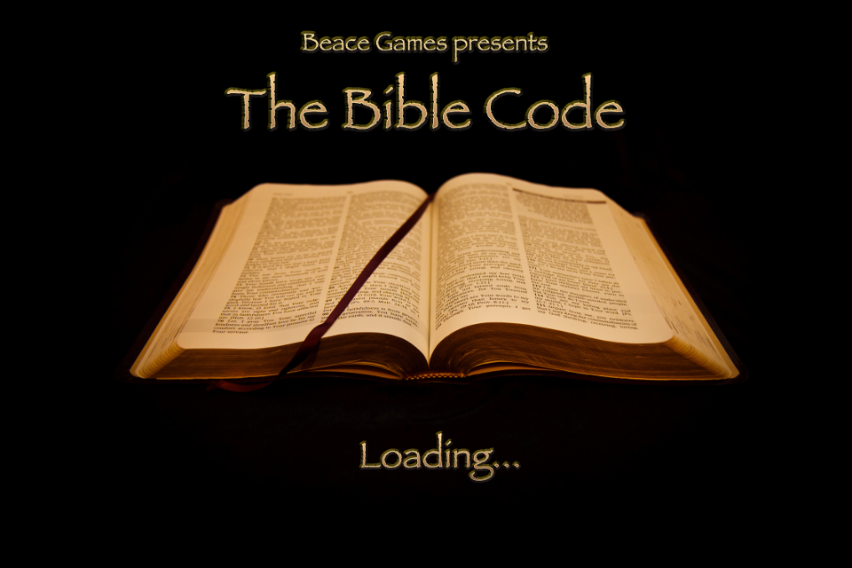 Bible Code cryptogram game splashscreen.