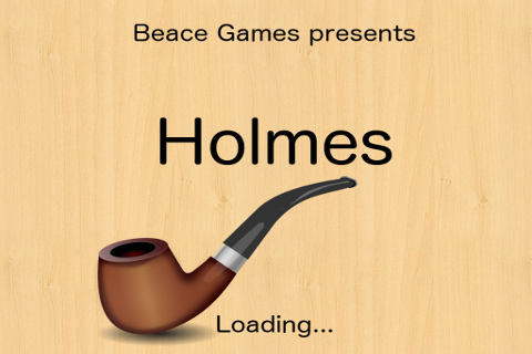 Holmes Cryptic Cipher cryptogram game splashscreen.